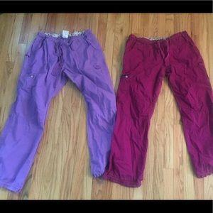 2 pair of Koi nursing scrub utility pants sz Large